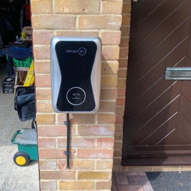 ProjectEV home electric car charger installed at a house