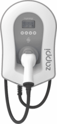 Zappi EV Charger white tethered